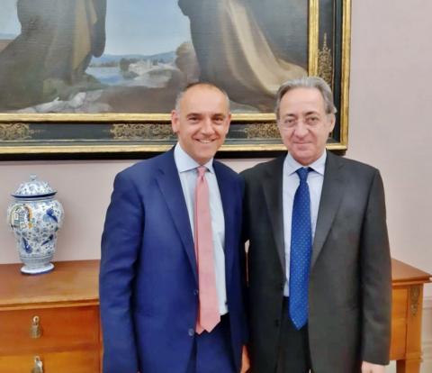 Il presidente Menesini con il Prefetto Falco
