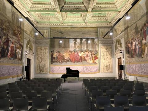 """Sala delle Guardie allestita per il concerto """"Sinfonia a Palazzo"""""""