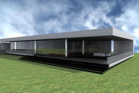 Il rendering del futuro edificio dei laboratori del Marconi