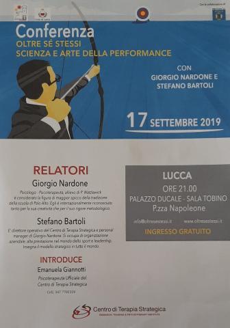 """Conferenza intitolata """"oltre sé stessi scienza e arte della performance"""""""