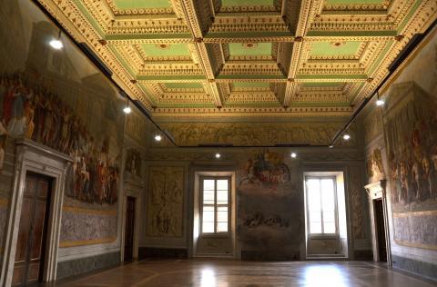 la sala Ademollo di Palazzo Ducale