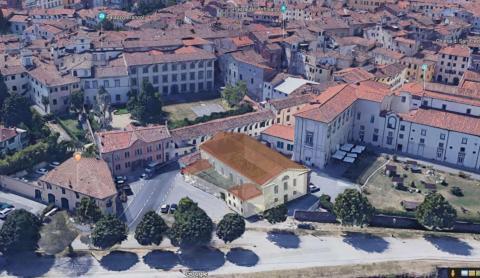 Il rendering di come verrà recuperato l'edificio della ex Cavallerizza