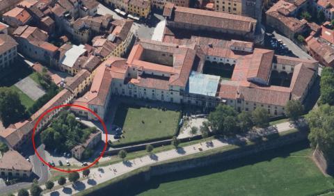 Foto aerea dell'immobile da trasformare in palestra