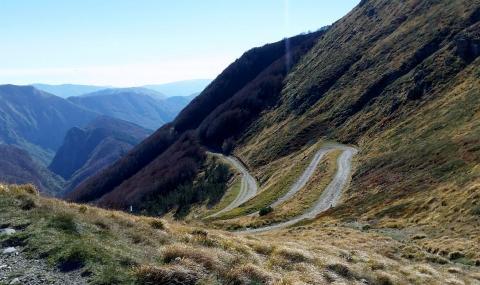 un tratto della via Ducale in un'immagine dall'alto
