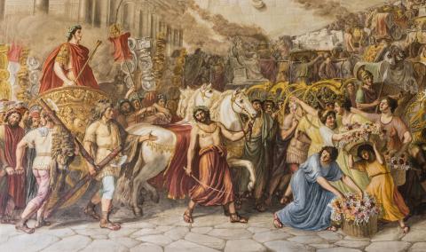 Il trionfo di Traiano, Sala Ademollo - Palazzo Ducale