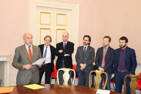 Il sovrintendente Ficacci con i 5 sindaci del territorio interessati