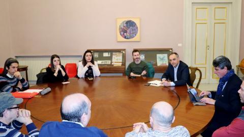 un momento della riunione a Palazzo Ducale