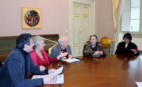 La conferenza stampa a Palazzo Ducale