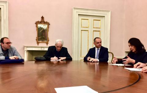 L'incontro svoltosi a Palazzo Ducale