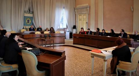 Un momento della prima seduta del consiglio provinciale del 2° mandato Menesini