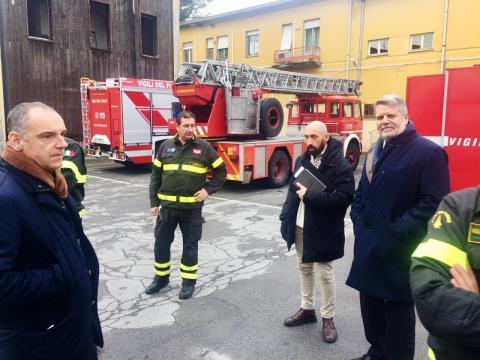 Un momento del sopralluogo alla caserma di S. Marco a Lucca