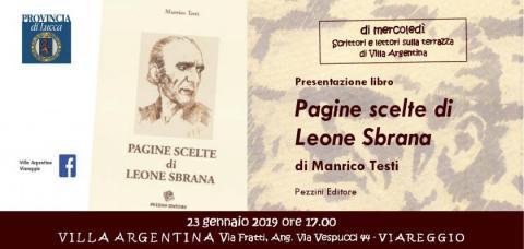 L'invito dell'incontro letterario a Villa Argentina