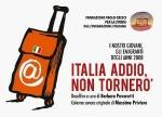 "Logo documentario ""Italia Addio, non tornerò"""