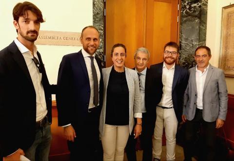 Gli amministratori presenti a Roma