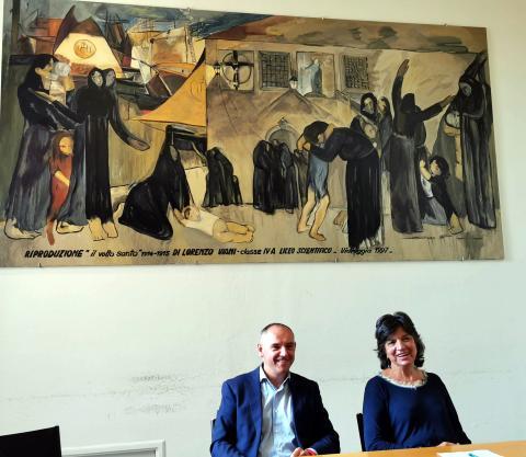 il presidente Luca Menesini e la consigliera Maria Teresa Leone