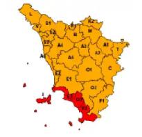 Mappa allerta meteo arancione 29 ottobre