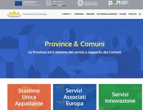 Uno screenshot del nuovo sito on line