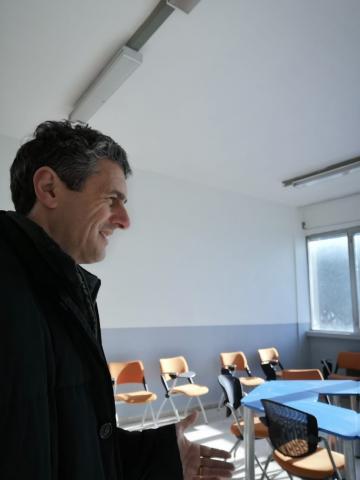 Il consigliere Poletti durante il sopralluogo del 31 dicembre 2018