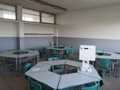 Un'aula del Piaggia che ospiterà gli alunni dell'istituto alberghiero