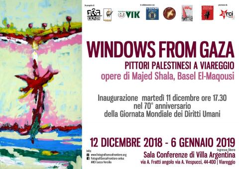 Locandina mostra Windows from Gaza