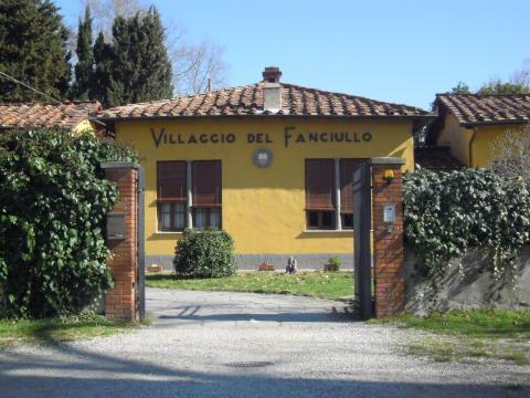 La sede del Villaggio del Fanciullo di Lucca