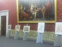 Immagine delle opere esposte in Sala del Trono
