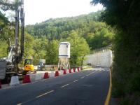 Il cantiere sulla sr 445 della Garfagnana ad Acquabona