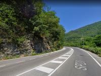 La curva di Rivangaio sulla strada di Fondovalle