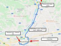 la cartina con il percorso seguito dai bus