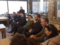 Un momento della riunione con i cittadini