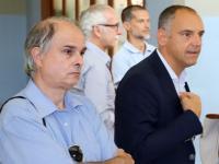 il dirigente Lazzari con il presidente Menesini