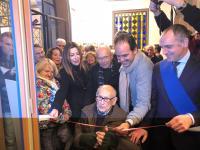L'inaugurazione dell'ultima mostra dedicata a Michetti a Viareggio nel 2018