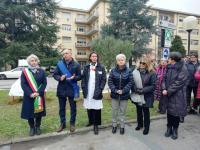 Inaugurazione panchina rossa per Vania Vannucchi, 12 dicembre 2018