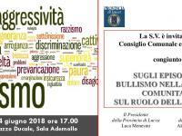 L'invito alla seduta congiunta Provincia e Comune di Lucca