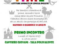 Locandina letture animate in lingua inglese