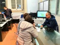 il presidente Luca Menesini in sala di protezione civile [foto d'archivio]