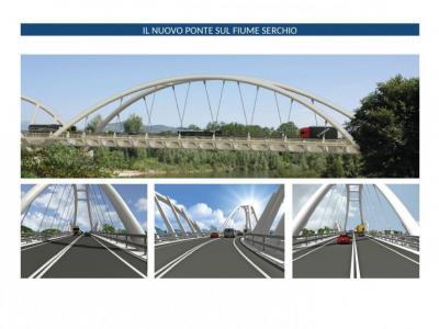 un rendering del nuovo ponte
