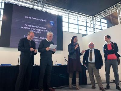 un momento della premiazione di oggi a Rimini