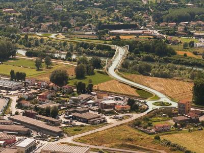 Un immagine rendering del nuovo ponte