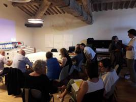 Fotografia dei componenti alla riunione sul progetto Robust