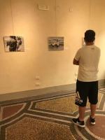 visitatore della mostra