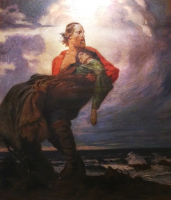 Museo del Risorgimento - Garibaldi e Anita morente di Luigi De Servi