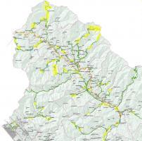 la mappa con le zone interessate dai lavori