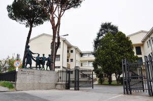 L'ingresso del Liceo Vallisneri a Lucca