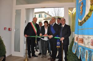 Il preside Lazzari in occasione dell'inaugurazione di una nuova ala dell'istituto agrario Busdraghi