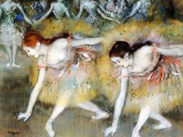 Edgar Degas, ballerine che fanno l'inchino - 1885