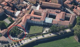 la foto aerea della zona interessata dal progetto di recupero
