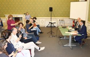 un momento della conferenza stampa in sala Maria Luisa