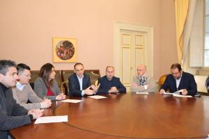 Un'altra immagine dell'incontro con la stampa locale