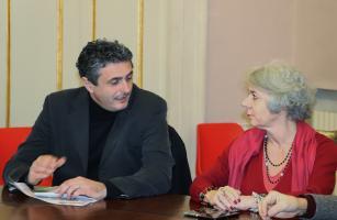 Il consigliere provinciale Poletti con l'ass. Vietina del Comune di Lucca